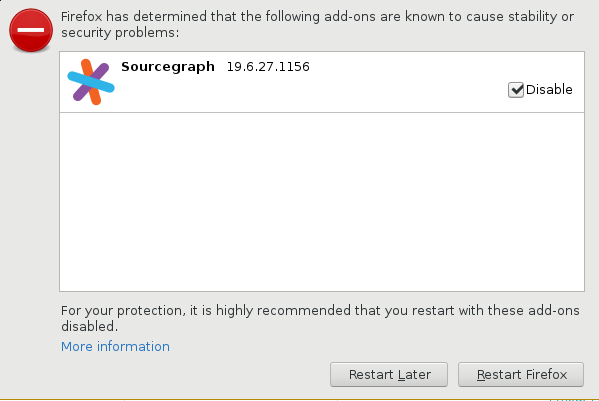 Sourcegraph Firefox Add-on security - Sourcegraph docs